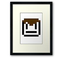 Blank Face Framed Print