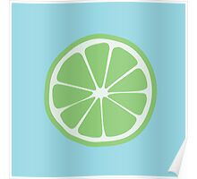 Grow - Lime (green/blue) Poster