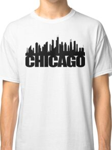 Chicago Skyline - black Classic T-Shirt