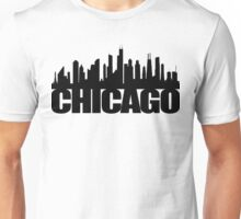 Chicago Skyline - black Unisex T-Shirt