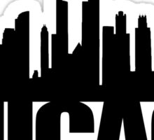 Chicago Skyline - black Sticker