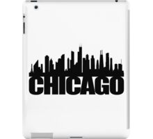 Chicago Skyline - black iPad Case/Skin