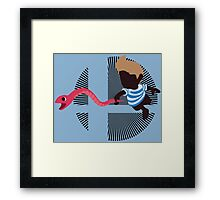 Lucas With Rope Snake - Sunset Shores Framed Print