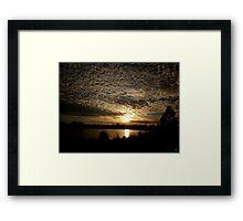 Sunrise Serenity Framed Print