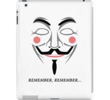 Remember remember iPad Case/Skin