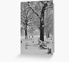 Wintery Cemetary Greeting Card