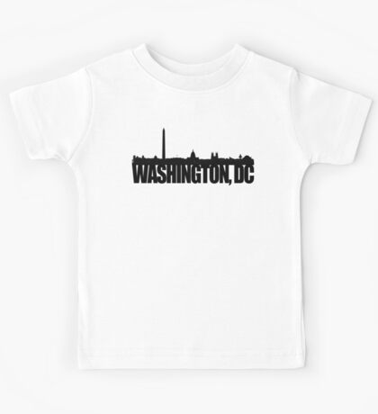 DC Skyline - black Kids Tee