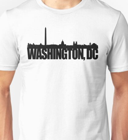 DC Skyline - black Unisex T-Shirt