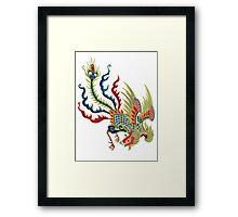 Chinese Rooster Asian Art Framed Print