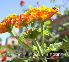 'Bee' a Flower In My Garden by Martín Alejandro Carmona Selva