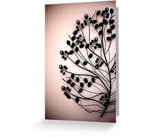 metallic flower portrait Greeting Card