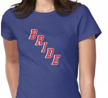 Blue Shirt Bride Womens Fitted T-Shirt