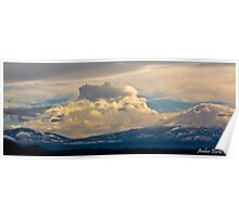 Cloud and Mountain scape Poster