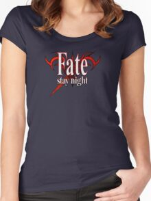 Fate/Stay Night Logo Women's Fitted Scoop T-Shirt
