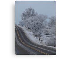Frosty Idaho Road Canvas Print