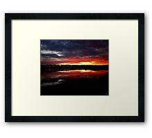 Sunset Water Framed Print
