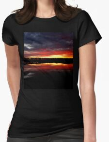 Sunset Water Womens Fitted T-Shirt
