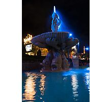 It's Not Rome - Triton Fountain Las Vegas at Night Photographic Print