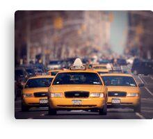 5th Avenue Cabs Metal Print