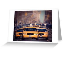 5th Avenue Cabs Greeting Card