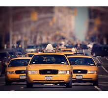5th Avenue Cabs Photographic Print