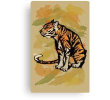 Tiger Ink Canvas Print