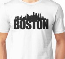 Boston Skyline - black Unisex T-Shirt
