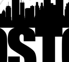 Boston Skyline - black Sticker