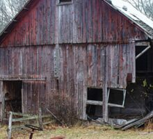 Old Barn and Tractor Sticker