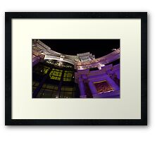 Another View of the Forum Shops Glamorous Entrance at Night Framed Print