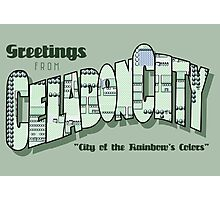 Greetings from Celadon City Photographic Print