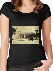 johnny's tattoo Women's Fitted Scoop T-Shirt
