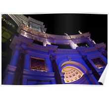 The Forum Shops Glamorous Entrance at Night Poster