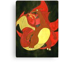 Warm Charizard Canvas Print