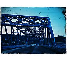 across the bridge Photographic Print