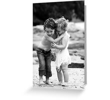 Sisters Embrace - Darook Beach, Cronulla Greeting Card