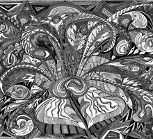 Tendrils in Grey Tones by Joanne Jackson