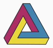 CMYK Penrose Triangle Kids Clothes