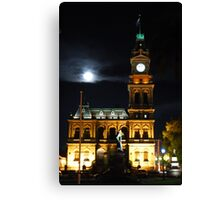 Bendigo's Post Office at night. Canvas Print