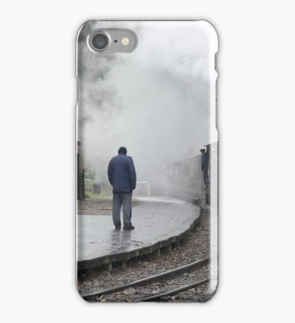 Puffing Billy - Waiting in the Rain. iPhone Case/Skin