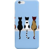 Fence sitters (Blue) iPhone Case/Skin