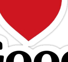 I heart good vibes funny saying Sticker