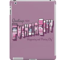 Greetings from Fuchsia City iPad Case/Skin