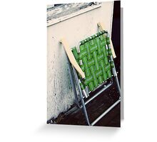 green chair Greeting Card