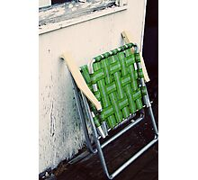 green chair Photographic Print
