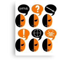 Deathstroke Moods Canvas Print