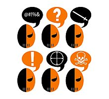 Deathstroke Moods Photographic Print