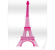 Hot Pink Eiffel Tower Poster