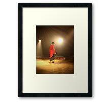 Walking in Red Framed Print