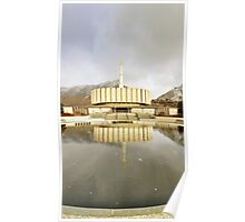 Provo Temple - Reflecting Pool Poster